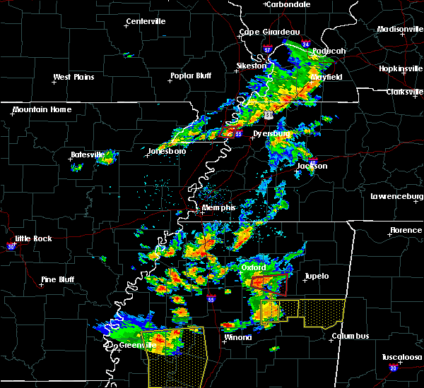 Radar Image for Severe Thunderstorms near Caruthersville, MO at 8/20/2018 7:40 PM CDT