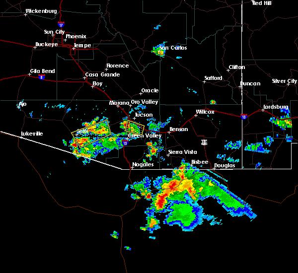 Radar Image for Severe Thunderstorms near Tucson, AZ at 8/20/2018 6:34 PM MST