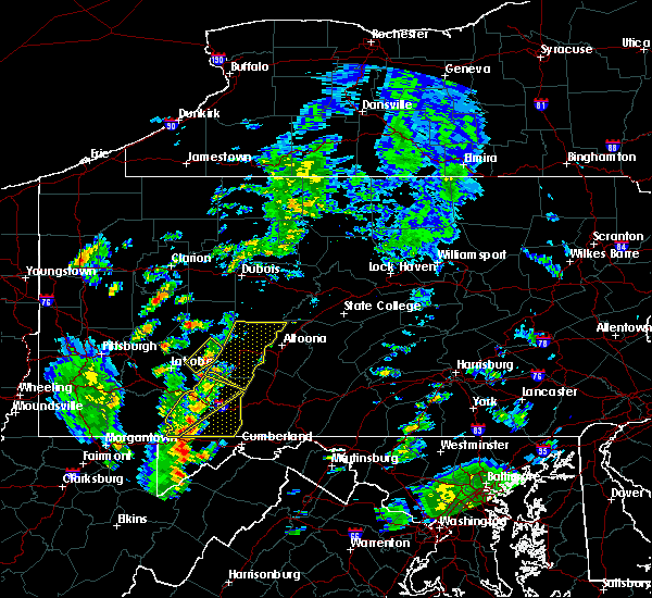 Radar Image for Severe Thunderstorms near Dunlo, PA at 8/21/2018 2:25 PM EDT