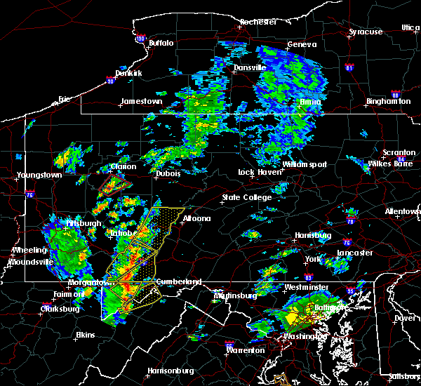 Radar Image for Severe Thunderstorms near Wellersburg, PA at 8/21/2018 2:44 PM EDT
