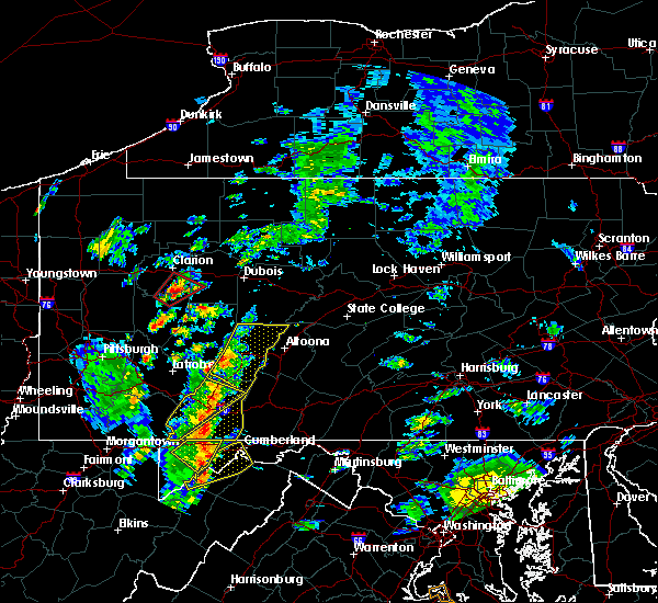 Radar Image for Severe Thunderstorms near Westover, PA at 8/21/2018 2:49 PM EDT