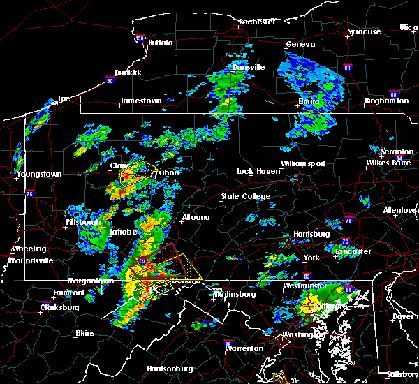 Radar Image for Severe Thunderstorms near Wellersburg, PA at 8/21/2018 3:17 PM EDT