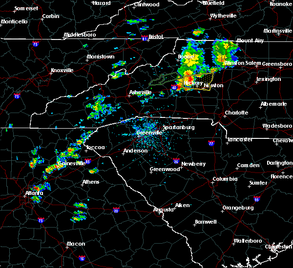 Radar Image for Severe Thunderstorms near Taylorsville, NC at 8/21/2018 3:23 PM EDT