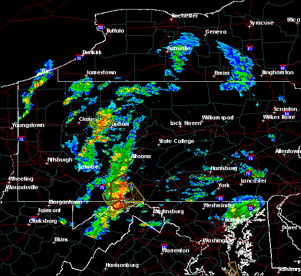 Radar Image for Severe Thunderstorms near Wellersburg, PA at 8/21/2018 3:46 PM EDT
