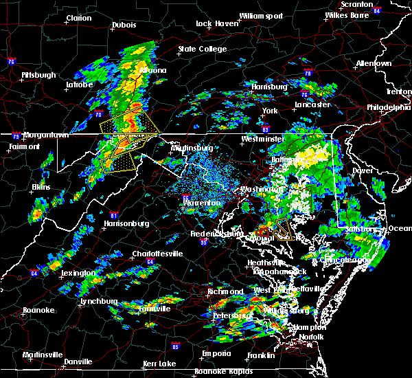 Radar Image for Severe Thunderstorms near Romney, WV at 8/21/2018 4:01 PM EDT