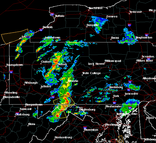 Radar Image for Severe Thunderstorms near Rainsburg, PA at 8/21/2018 4:07 PM EDT