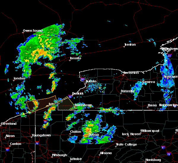 Radar Image for Severe Thunderstorms near Ripley, NY at 8/21/2018 4:10 PM EDT