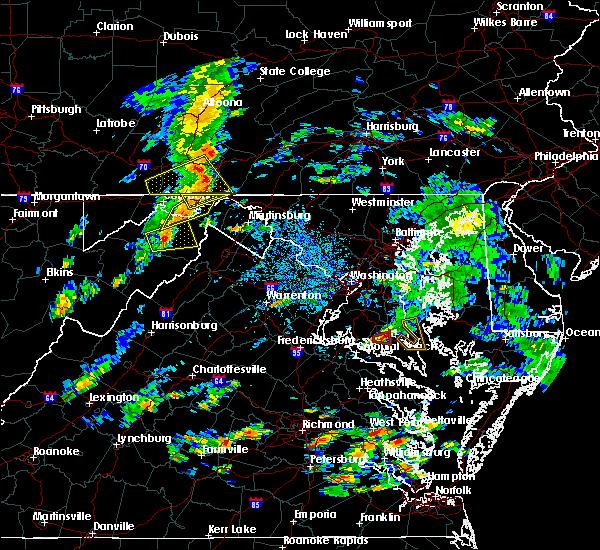 Radar Image for Severe Thunderstorms near Romney, WV at 8/21/2018 4:11 PM EDT