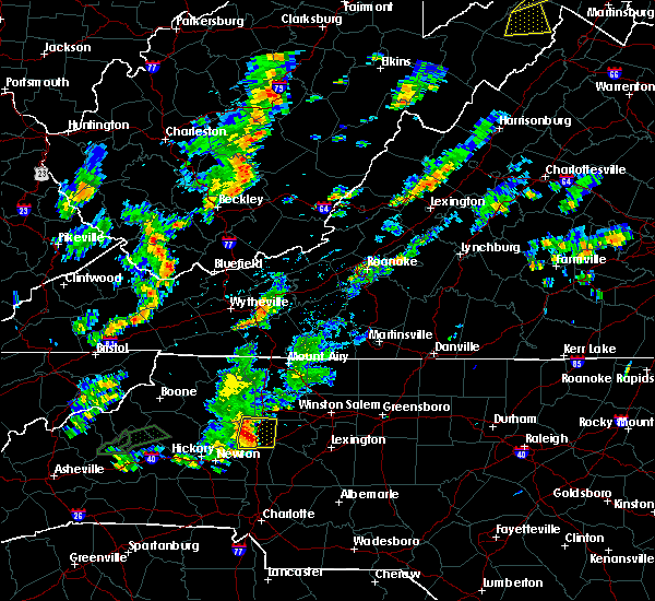 Radar Image for Severe Thunderstorms near Statesville, NC at 8/21/2018 4:16 PM EDT