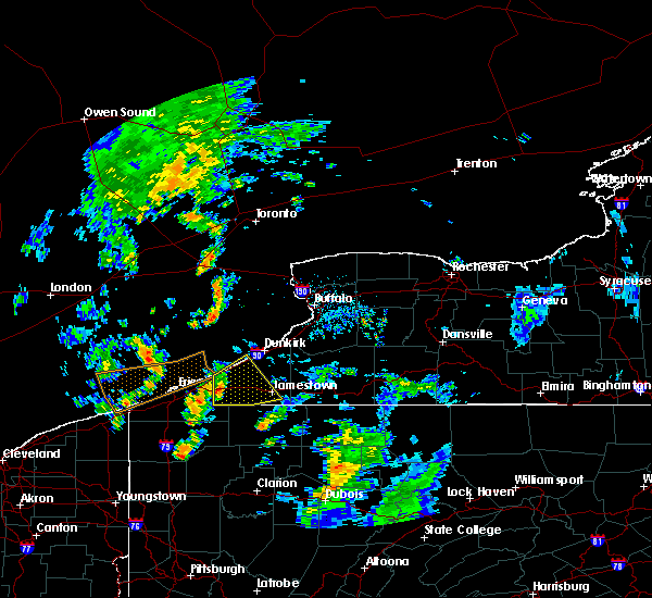Radar Image for Severe Thunderstorms near Ripley, NY at 8/21/2018 4:38 PM EDT