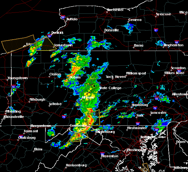 Radar Image for Severe Thunderstorms near McConnellsburg, PA at 8/21/2018 4:41 PM EDT