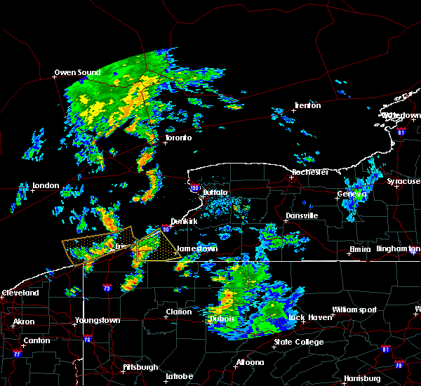 Radar Image for Severe Thunderstorms near Ripley, NY at 8/21/2018 4:57 PM EDT
