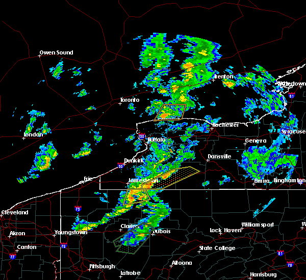 Radar Image for Severe Thunderstorms near Belfast, NY at 8/21/2018 8:04 PM EDT