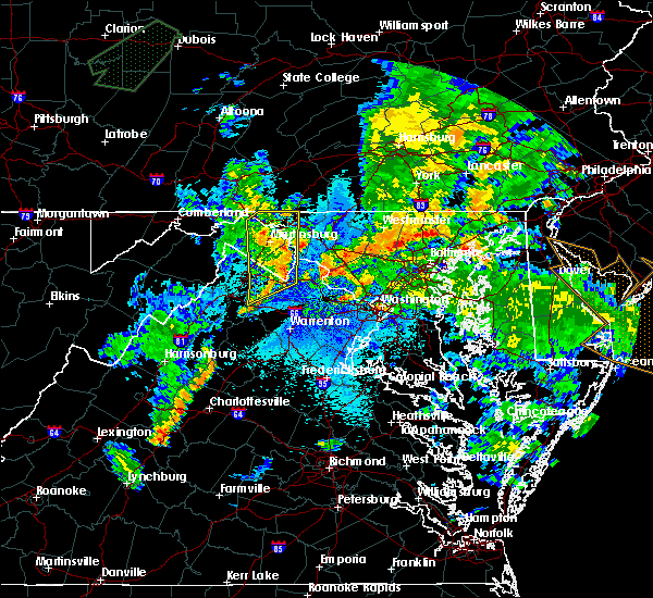Radar Image for Severe Thunderstorms near Antietam, MD at 8/21/2018 9:02 PM EDT