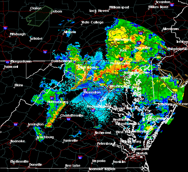 Radar Image for Severe Thunderstorms near Antietam, MD at 8/21/2018 9:11 PM EDT