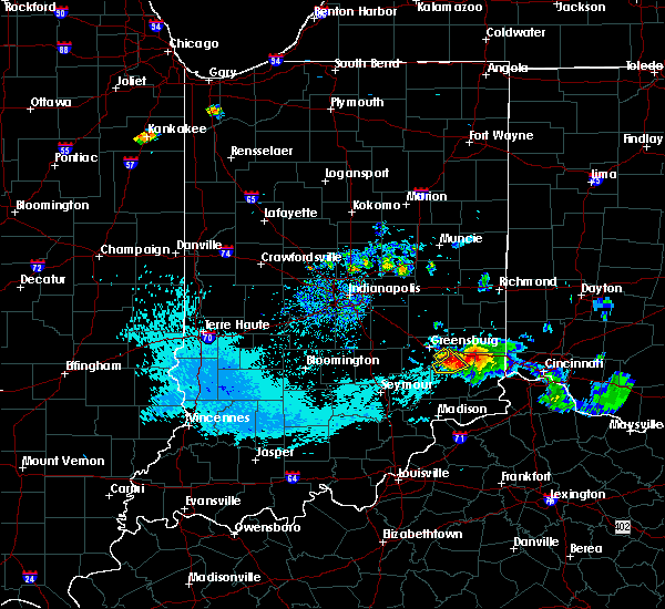 Radar Image for Severe Thunderstorms near New Point, IN at 8/25/2018 7:37 PM EDT