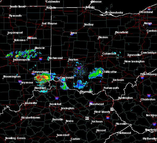 Radar Image for Severe Thunderstorms near Versailles, IN at 8/25/2018 7:52 PM EDT