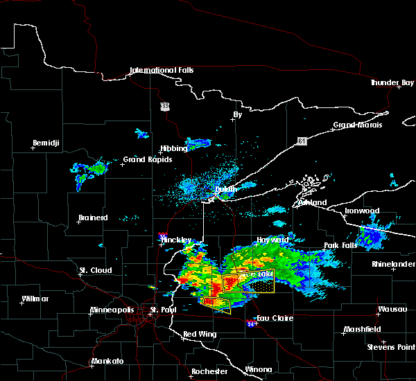 Radar Image for Severe Thunderstorms near Chetek, WI at 8/26/2018 7:34 AM CDT