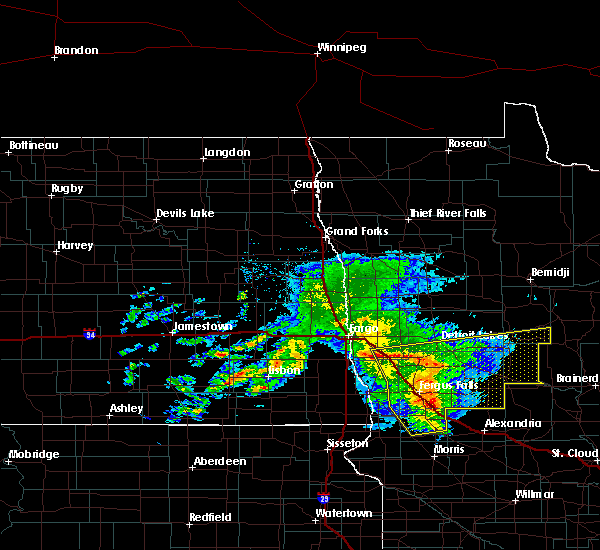 Radar Image for Severe Thunderstorms near Fergus Falls, MN at 8/26/2018 11:05 AM CDT