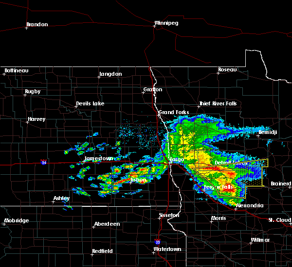 Radar Image for Severe Thunderstorms near Staples, MN at 8/26/2018 11:35 AM CDT
