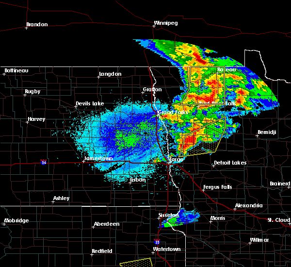 Radar Image for Severe Thunderstorms near Ada, MN at 8/26/2018 11:35 PM CDT