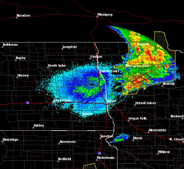 Radar Image for Severe Thunderstorms near Redby, MN at 8/26/2018 11:57 PM CDT