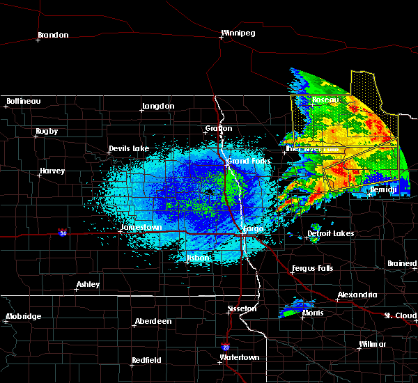 Radar Image for Severe Thunderstorms near Redby, MN at 8/27/2018 12:18 AM CDT