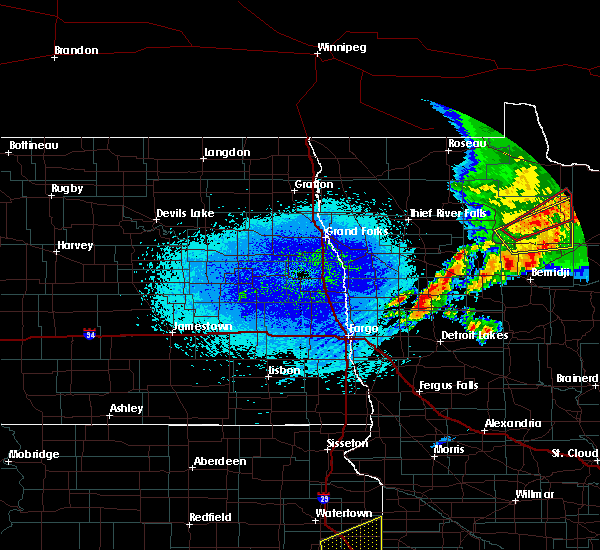 Radar Image for Severe Thunderstorms near Redby, MN at 8/27/2018 12:38 AM CDT