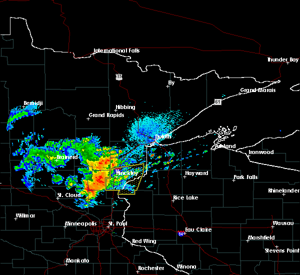 Radar Image for Severe Thunderstorms near Pine City, MN at 8/27/2018 2:33 PM CDT