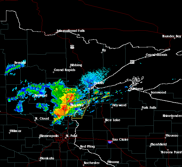 Radar Image for Severe Thunderstorms near Pine City, MN at 8/27/2018 2:44 PM CDT