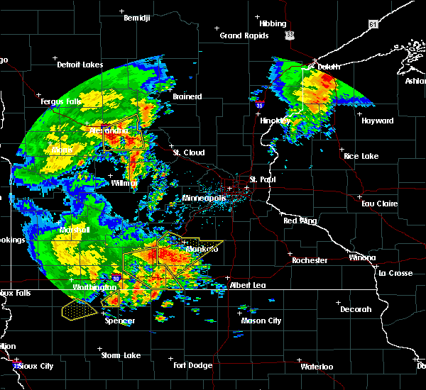 Radar Image for Severe Thunderstorms near Good Thunder, MN at 8/27/2018 4:09 PM CDT