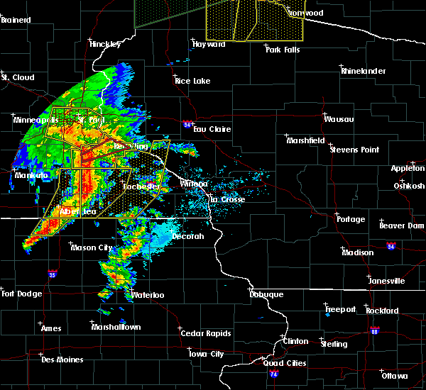 Radar Image for Severe Thunderstorms near Fountain, MN at 8/27/2018 5:32 PM CDT