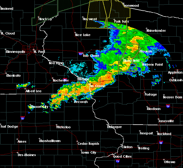 Radar Image for Severe Thunderstorms near Mosinee, WI at 8/27/2018 8:25 PM CDT