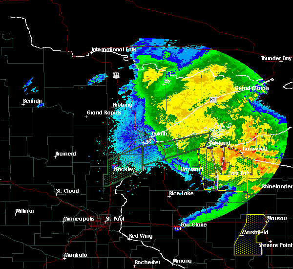 Radar Image for Severe Thunderstorms near Clam Lake, WI at 8/27/2018 8:29 PM CDT