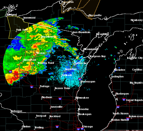 Radar Image for Severe Thunderstorms near Summit Lake, WI at 8/27/2018 8:35 PM CDT