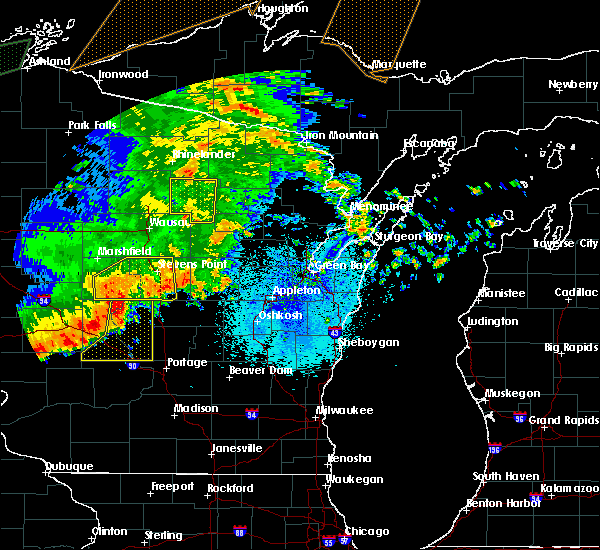 Radar Image for Severe Thunderstorms near Summit Lake, WI at 8/27/2018 9:06 PM CDT