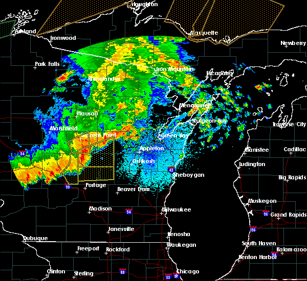 Radar Image for Severe Thunderstorms near King, WI at 8/27/2018 9:31 PM CDT