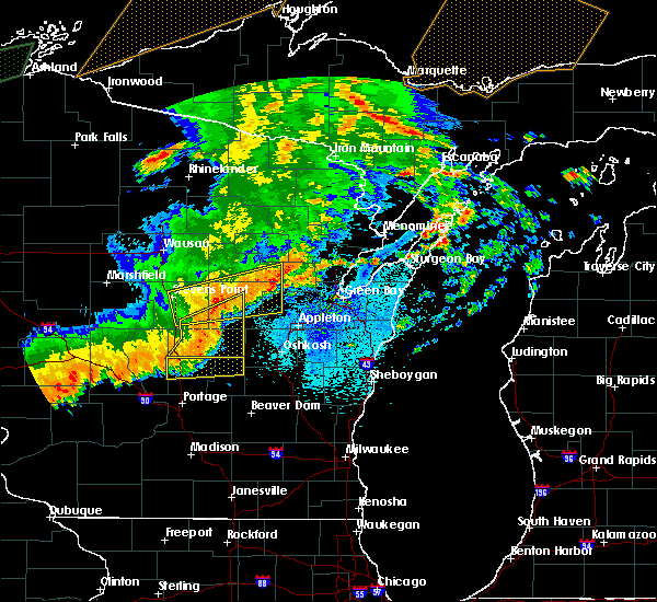 Radar Image for Severe Thunderstorms near King, WI at 8/27/2018 9:43 PM CDT