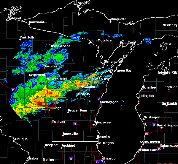 Radar Image for Severe Thunderstorms near Hancock, WI at 8/28/2018 2:51 PM CDT