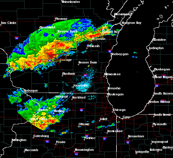 Radar Image for Severe Thunderstorms near Endeavor, WI at 8/28/2018 2:52 PM CDT