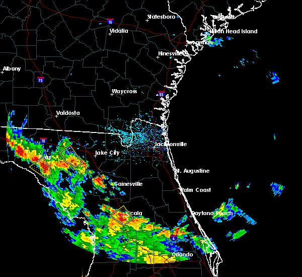 Radar Image for Severe Thunderstorms near Ocala, FL at 8/28/2018 5:27 PM EDT