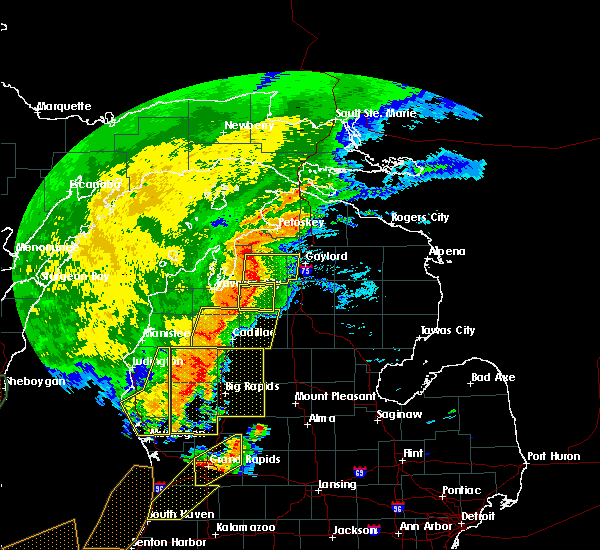 Radar Image for Severe Thunderstorms near South Boardman, MI at 8/28/2018 7:42 PM EDT