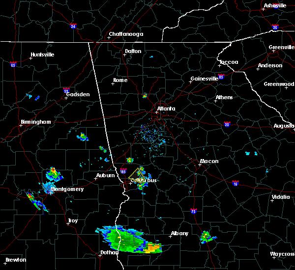 Radar Image for Severe Thunderstorms near Columbus, GA at 8/28/2018 8:11 PM EDT