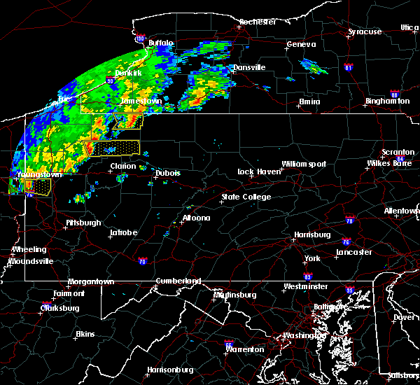 Radar Image for Severe Thunderstorms near Titusville, PA at 8/29/2018 6:05 PM EDT