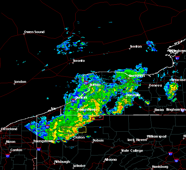 Radar Image for Severe Thunderstorms near Rew, PA at 8/29/2018 6:34 PM EDT
