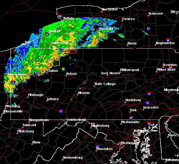 Radar Image for Severe Thunderstorms near Marienville, PA at 8/29/2018 6:40 PM EDT