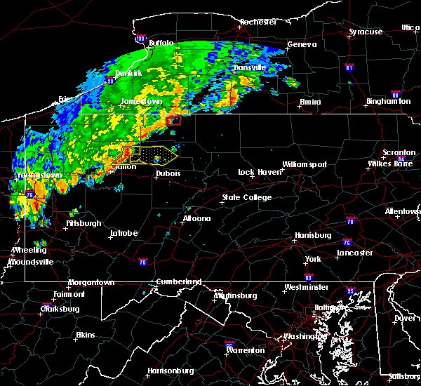 Radar Image for Severe Thunderstorms near Rew, PA at 8/29/2018 6:52 PM EDT