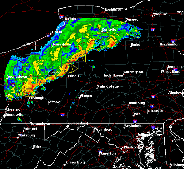 Radar Image for Severe Thunderstorms near Ridgway, PA at 8/29/2018 7:32 PM EDT