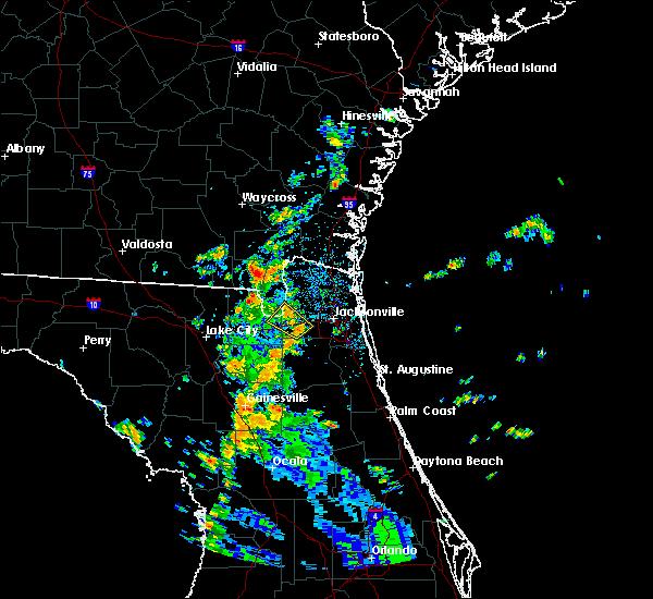 Radar Image for Severe Thunderstorms near Jacksonville, FL at 8/30/2018 2:22 PM EDT