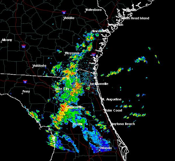 Radar Image for Severe Thunderstorms near Jacksonville, FL at 8/30/2018 2:38 PM EDT